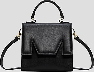 Msgm m bag in black leather