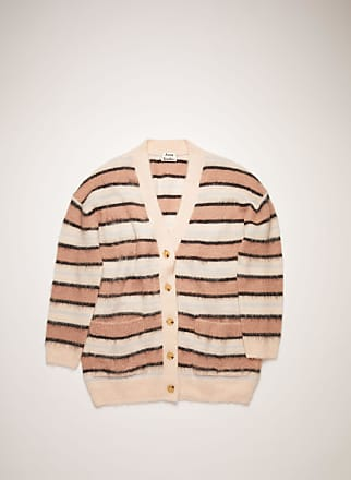 Acne Studios FN-WN-KNIT000186 Old pink/multi Striped cardigan