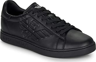 Emporio Armani EA7 Classic New Cc Trainers Men Black - UK:4.5 - Low Top Trainers Shoes