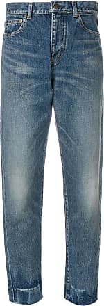 Saint Laurent high waist boyfriend jeans - Blue
