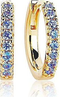 Sif Jakobs Jewellery Earrings Ellera medio - 18k gold plated with blue zirconia