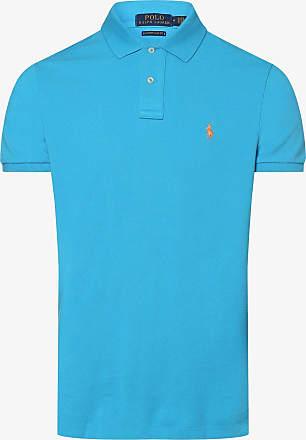 Polo Ralph Lauren Herren Poloshirt - Custom Slim Fit blau