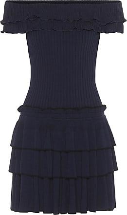 Jonathan Simkhai Schulterfreies Kleid aus Rippstrick