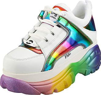 Buffalo 1339-14 2.0 Womens Platform Trainers in White Multicolour - 6.5 UK