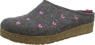 Haflinger Haflinger Womens Couriccini Grizzly Open Back Slippers, Grey (Anthrazit 04), 7.5 UK (41 EU)