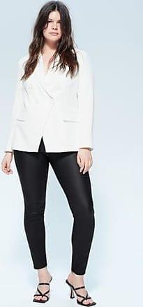 Violeta by Mango Coated super slim Andrea jeans