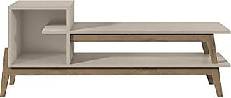Manhattan Comfort 350884 Essence Mid-Century Rustic TV Stand, Off- Off-White