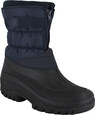 Groundwork GroundWork LS87 Womens Muckers Mukker Stable Winter WaterProof Lined Snow Boots UK 6 Navy