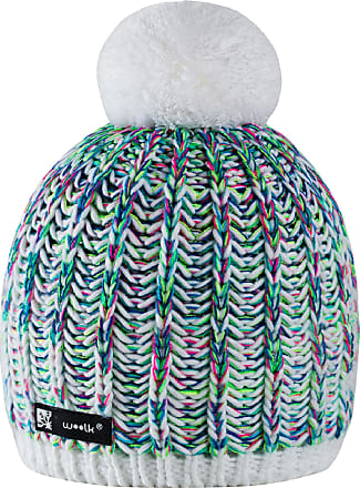 morefaz Beanie Hat Wool Knitted NIUNIO Style with Ponpon Mens Womens Winter Warm SKI Snowboard Hats (White) MFAZ Morefaz Ltd