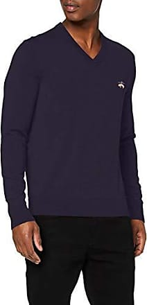 Brooks Brothers Swt RF Wool Crewneck Bright Navy Maglione Uomo