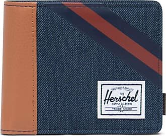 Herschel Herschel Roy Coin RFID Wallet Indigo Denim/Synthetic Leather Stripe Peacoat/Picante