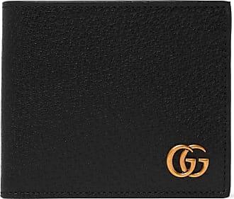 9ec4a9f3a11 Gucci Marmont Full-grain Leather Billfold Wallet - Black