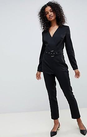 Unique21 Unique 21 long sleeve wrap jumpsuit-Black