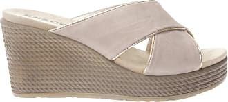 Igi & Co Womens Wedge Slippers Beige Size: 7 UK
