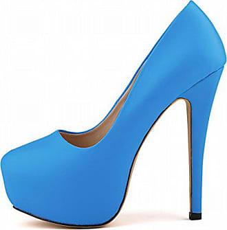 8a425a74e005e2 Aisun Damen Elegant Plateau Stiletto High Heels Damenschuh Brautschuh Pumps  Blau 38 EU