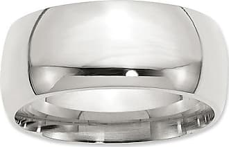 Zales Mens 10.0mm Comfort Fit Wedding Band in Sterling Silver