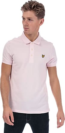 Lyle & Scott Lyle and Scott Men Plain Polo Shirt - Cotton - S Pink