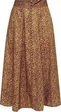 Zimmermann Animal Motif Skirt Womens Brown