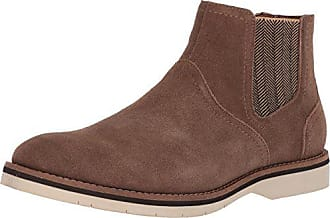 e9a8c823734 Steve Madden Mens SAINE Chelsea Boot Taupe Suede 11 M US