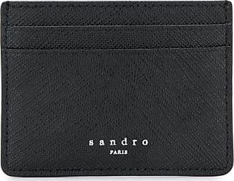 Sandro Porta-cartões com logo em relevo - Preto