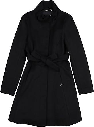 cappotto nero lungo con cintura patrizia pepe