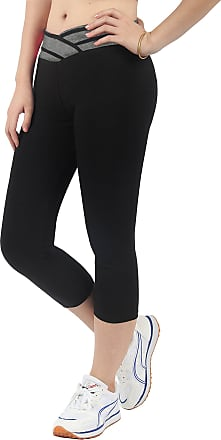 iLoveSIA Womens Yoga Pants 3/4 Workout Capri Leggings L1085 Grey Large