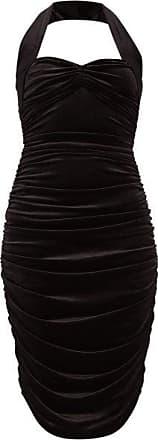 Norma Kamali Bill Sweetheart-neckline Velvet Dress - Womens - Black