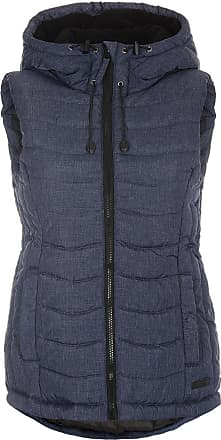 Blend Neni Womens Quilted Gilet Vest Body Warmer with Hood, Size:M, Colour:Mood Indigo (20064)