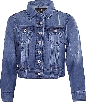 Noroze Women Cropped Denim Jacket Distressed Dark Wash Top (16, Dark Wash Navy)