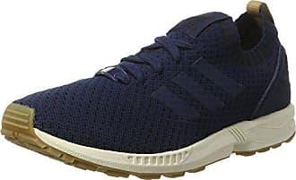 differently 2b40a ee1cc adidas ZX Flux Primeknit, Baskets Basses Homme, Bleu Collegiate NavyGum, 38