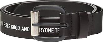 Diesel Leather Belt With Logo Mens Black