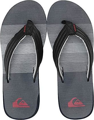 Quiksilver Mens Carver Print Flip-Flop Black/Blue/red 14(47) M US