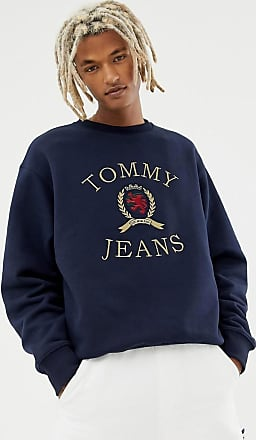 Tommy Jeans 6.0 Limited Capsule crew neck sweatshirt with crest logo in navy