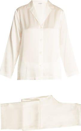La Perla Silk-satin Pyjamas - Womens - Ivory