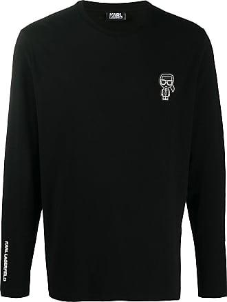 Karl Lagerfeld long sleeve T-shirt - Preto