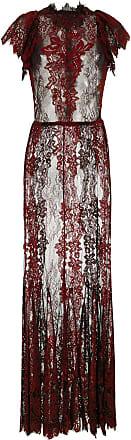 À La Garçonne Vestido longo com nesgas - Vermelho