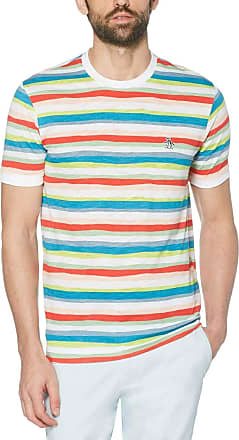 Original Penguin Mens Short Sleeve Stripe Tee