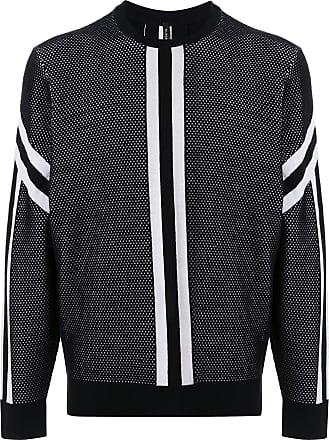 Blackbarrett Suéter com listra contrastante - Preto