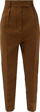 Haider Ackermann Flap Pocket Tapered Wool-fleece Trousers - Womens - Brown