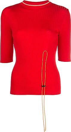 I-am-chen toggle fastened long sleeve top - Vermelho