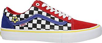 Vans Old Skool Pro Brighton Zeuner Skate Shoes red / checker / blue