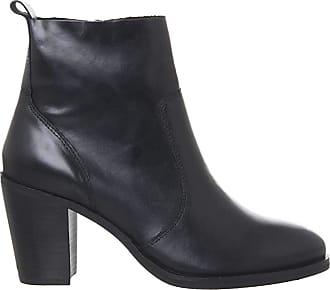 Office Aberdeen- Unlined Block Heel Boot Black Leather - 3 UK