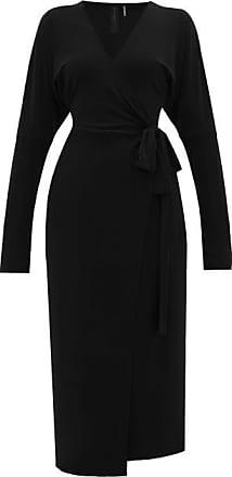 Norma Kamali V-neck Dolman-sleeve Jersey Wrap Dress - Womens - Black
