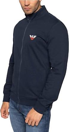 Emporio Armani Mens Homewear - Iconic Terry Sweater Sweatshirt, Blue (Marine 00135), X-Large