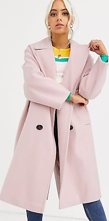 Asos Petite ASOS DESIGN Petite classic coat with statement buttons in pink