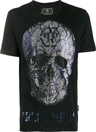 Philipp Plein T-shirt a girocollo - Di colore nero