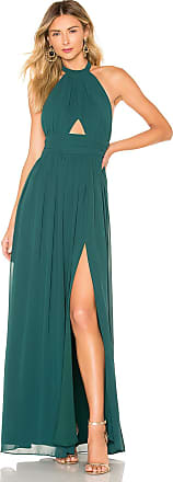 Lovers + Friends Hazel Gown in Dark Green