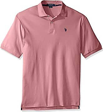 311c51c3 U.S.Polo Association Mens Big and Tall Big & Tall Solid Interlock Polo Shirt,  Pink