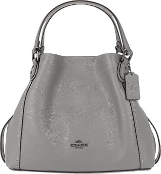 fc04b09a87aed Coach Polished Leather Edie 28 Shoulder Bag Heather Grey Tote grau