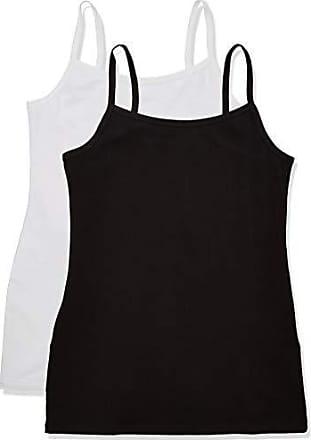 White White Keine Angabe 2per pack Wei/ß Iris /& Lilly Damen Basic Stretch Unterhemd Herstellergr/ö/ße: XL
